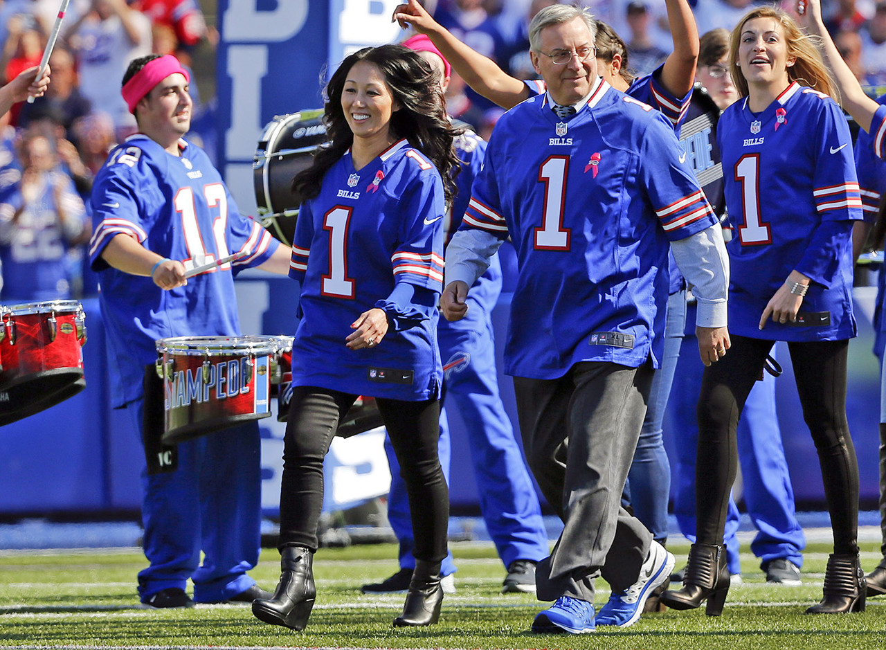 Pegula has quickly become one of the biggest names in Buffalo sports. As CEO of Pegula Sports and Entertainment, she and her husband Terry in 2014 became only the second owners in Bills history. The Pegulas also own the NHL's Sabres and two other local franchises. Pegula is heavily involved in off-the-field work for the Bills and is a member of the Super Bowl Committee and the National Football League Foundation board, a non-profit organization dedicated to improving the lives of those involved in the game of football.