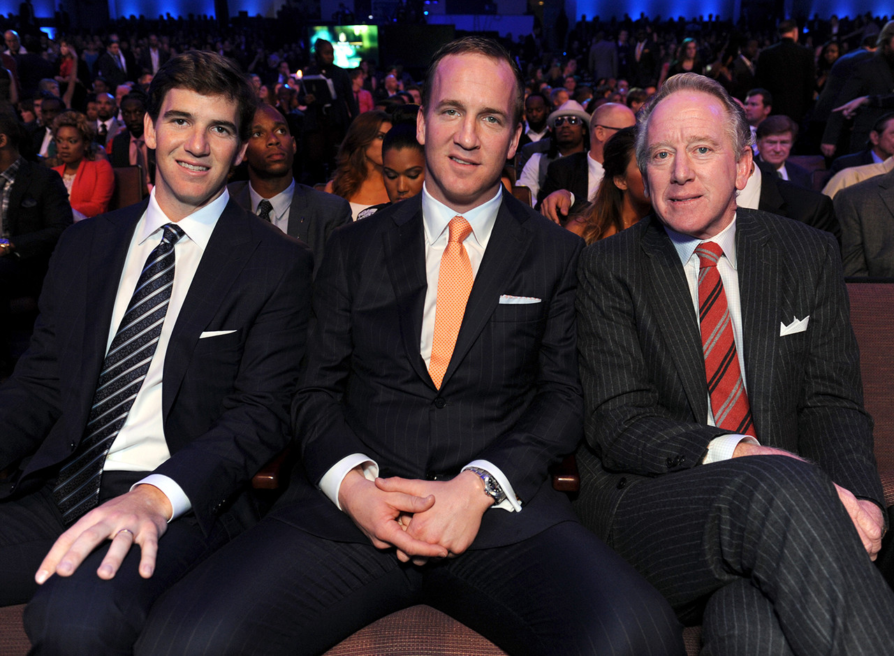 The Manning family needs no introduction. Archie was selected second overall in the 1971 draft out of Ole Miss by the New Orleans Saints. He played 14 seasons in the NFL and was part of two Pro Bowls. His sons -- Peyton and Eli -- have both won two Super Bowls each and were both selected first overall in their respective drafts. Peyton has 14 Pro Bowls while Eli has four.