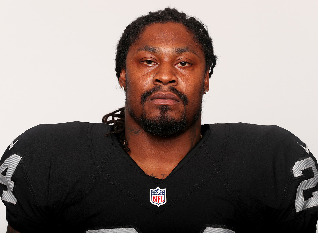 "<p>Ben Liebenberg, senior photo editor of NFL Media, found the Raiders headshots in his inbox with the following note: ""Was just informed that Marshawn Lynch posed with pads on. He apparently refused to take them off for the photographer."" Remember, this is the same Lynch that left the Raiders facility with his helmet on after signing with the team. It's conceivable the man may have <em>driven home with a helmet on</em>. Keeping pads on is nothing.</p>"
