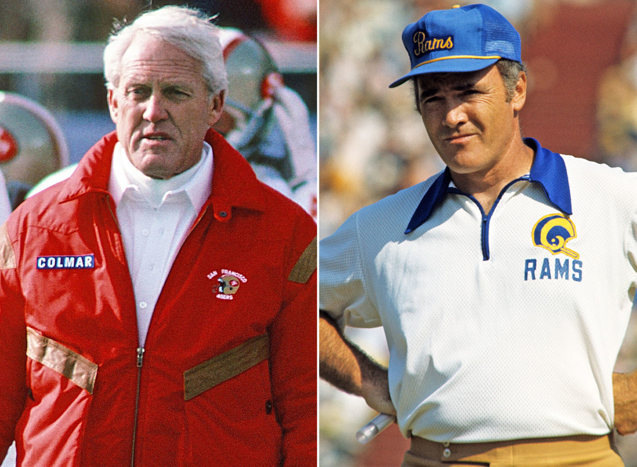Knox led the Rams to five consecutive NFC West titles from 1973 to '77 before he bolted for Buffalo. He ranks 10th all-time in career regular-season wins. But Bill Walsh is credited with the invention of the West Coast offense, led the 49ers to four Super Bowl wins and is in the conversation for best coach <i>ever</i>. <br> <b>Edge:</b> 49ers