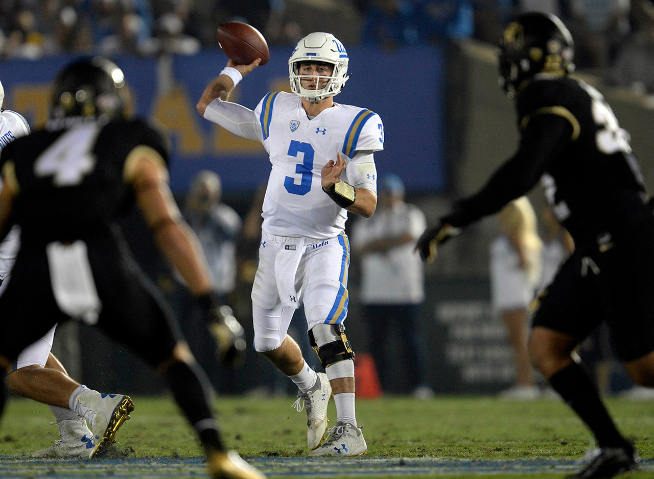 <b>2017 Stats:</b> 159 of 245 (65 percent) for 2,135 yards, 17 TDs, 5 INTs.<br><br> The Bruins (3-2) haven't succeeded to Rosen's satisfaction. However, the junior still leads the country with 17 touchdown passes and 427 passing yards per game. And frankly, the second-half comeback he led against Texas A&M in the season opener is still buying him capital with NFL teams, even with the five interceptions he's thrown over the past three weeks (two losses).