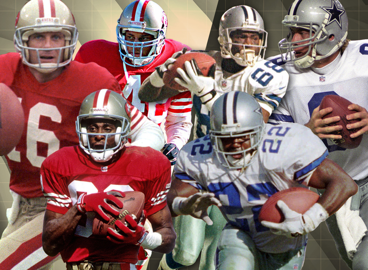 Between the two organizations, the San Francisco 49ers and the Dallas Cowboys have produced 31 Hall of Famers. Among the 15 49ers immortalized in Canton include Joe Montana, Jerry Rice, and Ronnie Lott. On the Cowboys' end includes Troy Aikman, Emmitt Smith, and Michael Irvin.