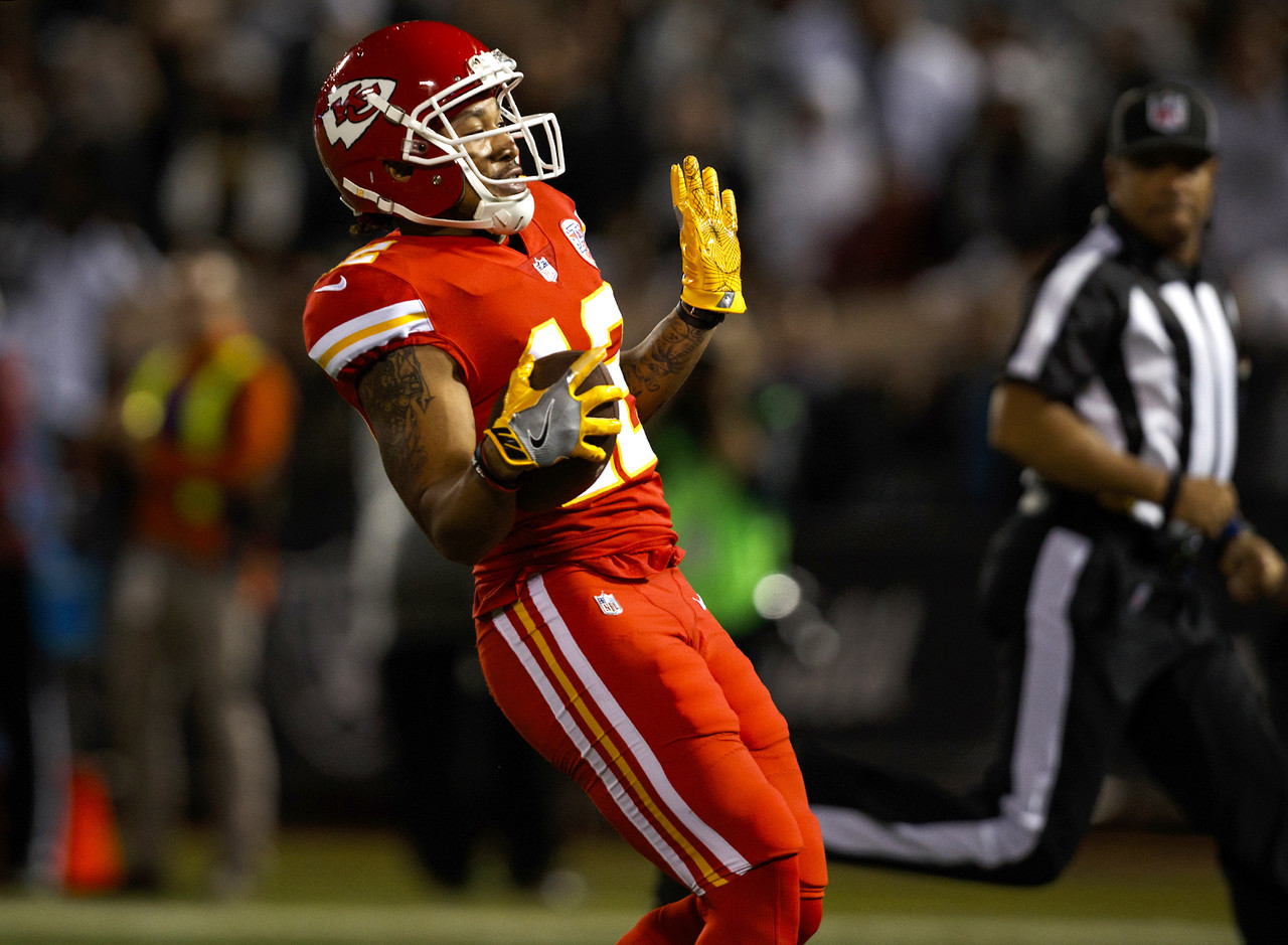 ... Kansas City Chiefs wide receiver Albert Wilson (12) celebrates while  scoring a touchdown during ... 9a6a10636