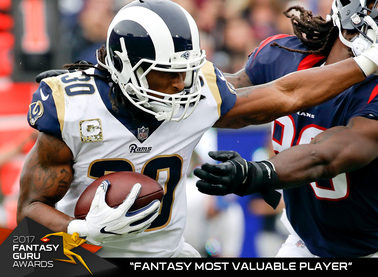 What a difference a year makes. After finishing as one of the bigger disappointments in fantasy football last season, Gurley boat-raced the competition with 64 catches, 2,093 scrimmage yards, 19 touchdowns and over 380 PPR points. He was a stat-sheet stuffer when it counted too, as he posted a record 123.1 points (or 32 percent of his total points) during the fantasy postseason. Gurley will be a top-three pick in 2018.