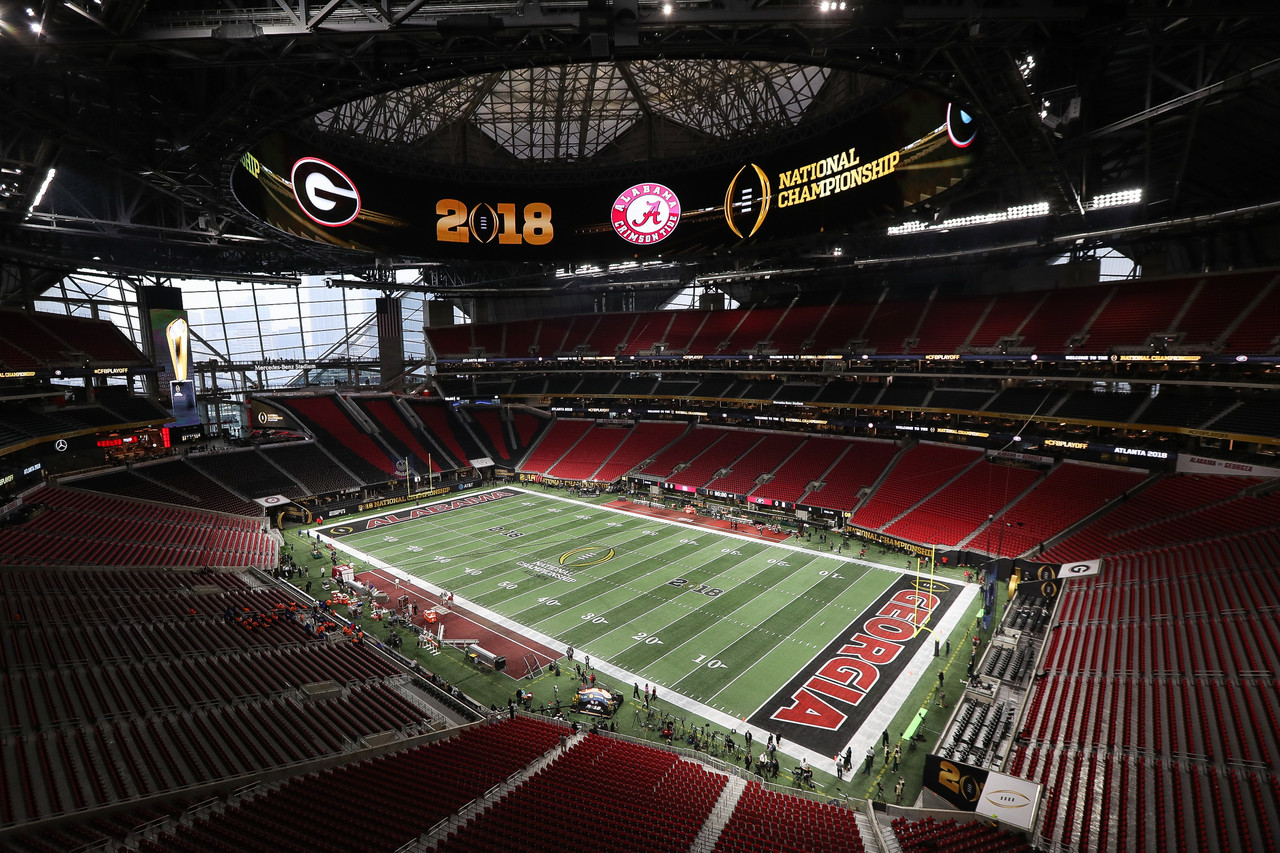 Best of the 2018 national championship between georgia and for Mercedes benz stadium calendar