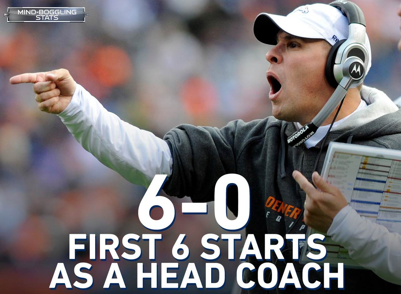 During his tenure as the head coach of the Denver Broncos during the 2009 and 2010 seasons, McDaniels experienced instant success, wining his first six games. The last 22 games however, told a much different tale with McDaniels going 5-17.