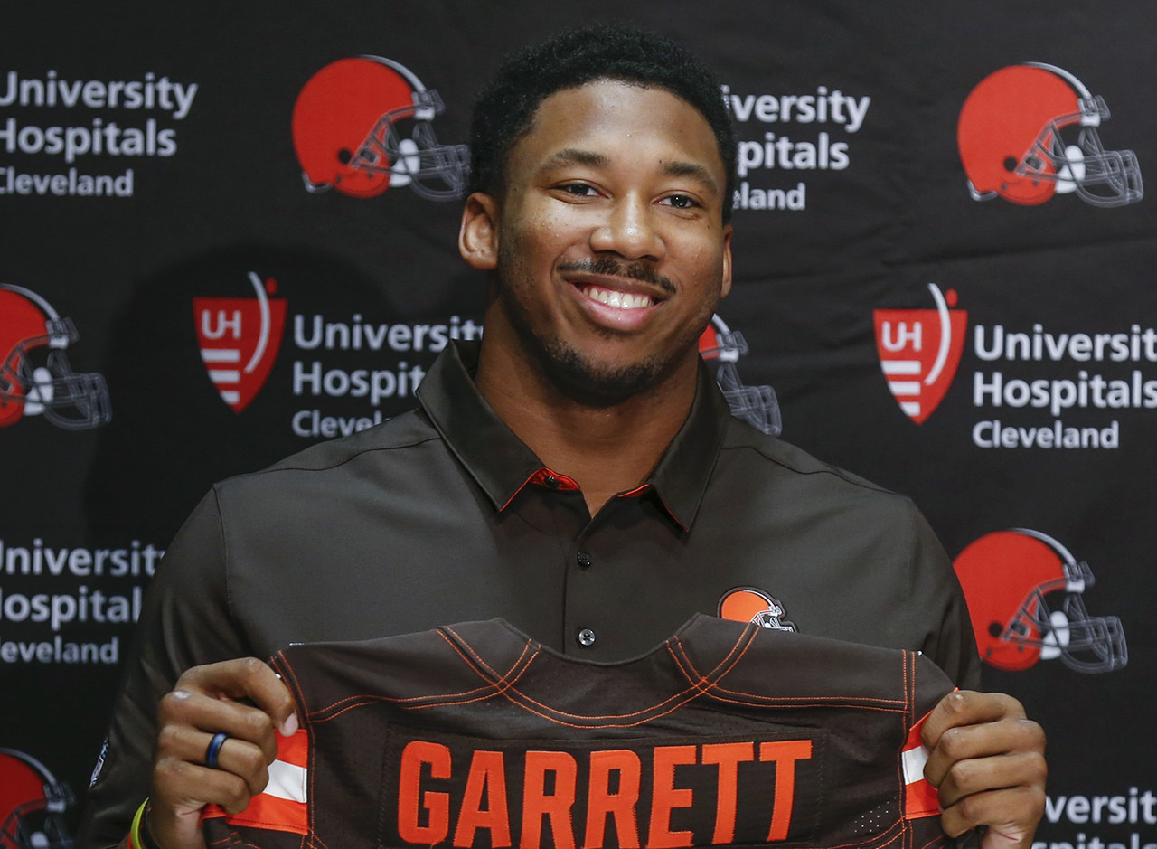 "<b>Drafted by:</b> Cleveland Browns, 2017.<br /> <br /> Garrett went first overall in 2017, then we didn't hear about him much. That's what happens when you don't have ""QB"" listed on your draft card, apparently. The Browns going 0-16 didn't really push Garrett's decent rookie season to the forefront of greater foodballdom's consciousness, either. Decent, only because the top overall pick was not able to play a full schedule -- ankle injuries have been around even longer than the NFL draft. Last season, Garrett transformed from player-with-promise to problem, as Cleveland's edge rusher amassed 13.5 sacks and forced left tackles to adjust their games to handle him. That gives Garrett 20.5 sacks in less than two full seasons in the bigs. The only reason he isn't higher on this list is lack of service."