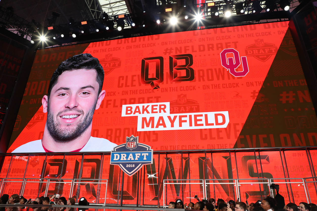 Browns take Mayfield with draft's 1st pick