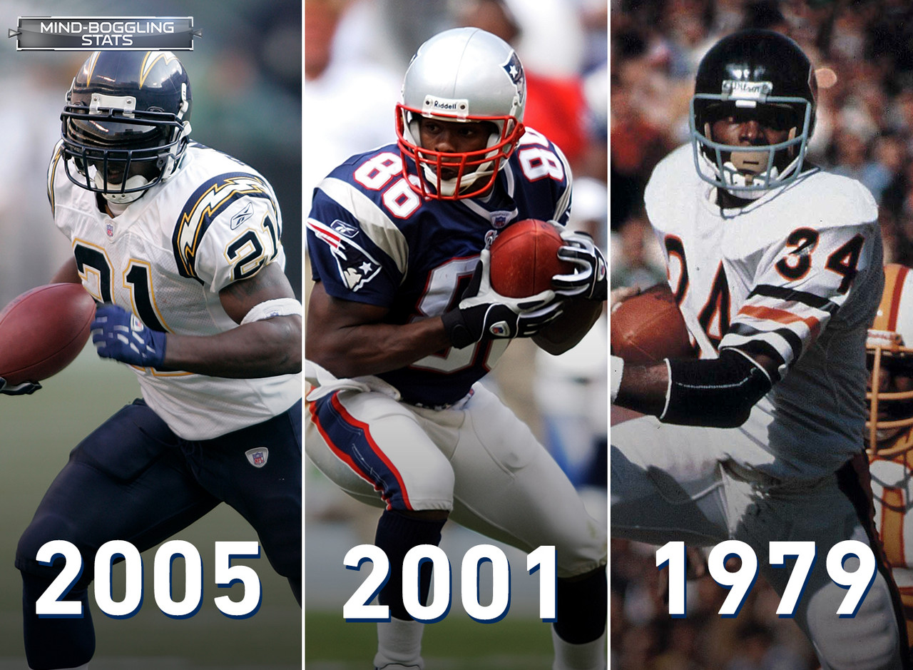 Since the 1970 AFL-NFL merger, three players have had a passing TD, rushing TD and receiving TD in the same game. San Diego Chargers' LaDainian Tomlinson had the touchdown triple crown in 2005,  New England Patriots' David Patten achieved the feat in 2001 and Chicago Bears great Walter Payton pulled it off in 1979.