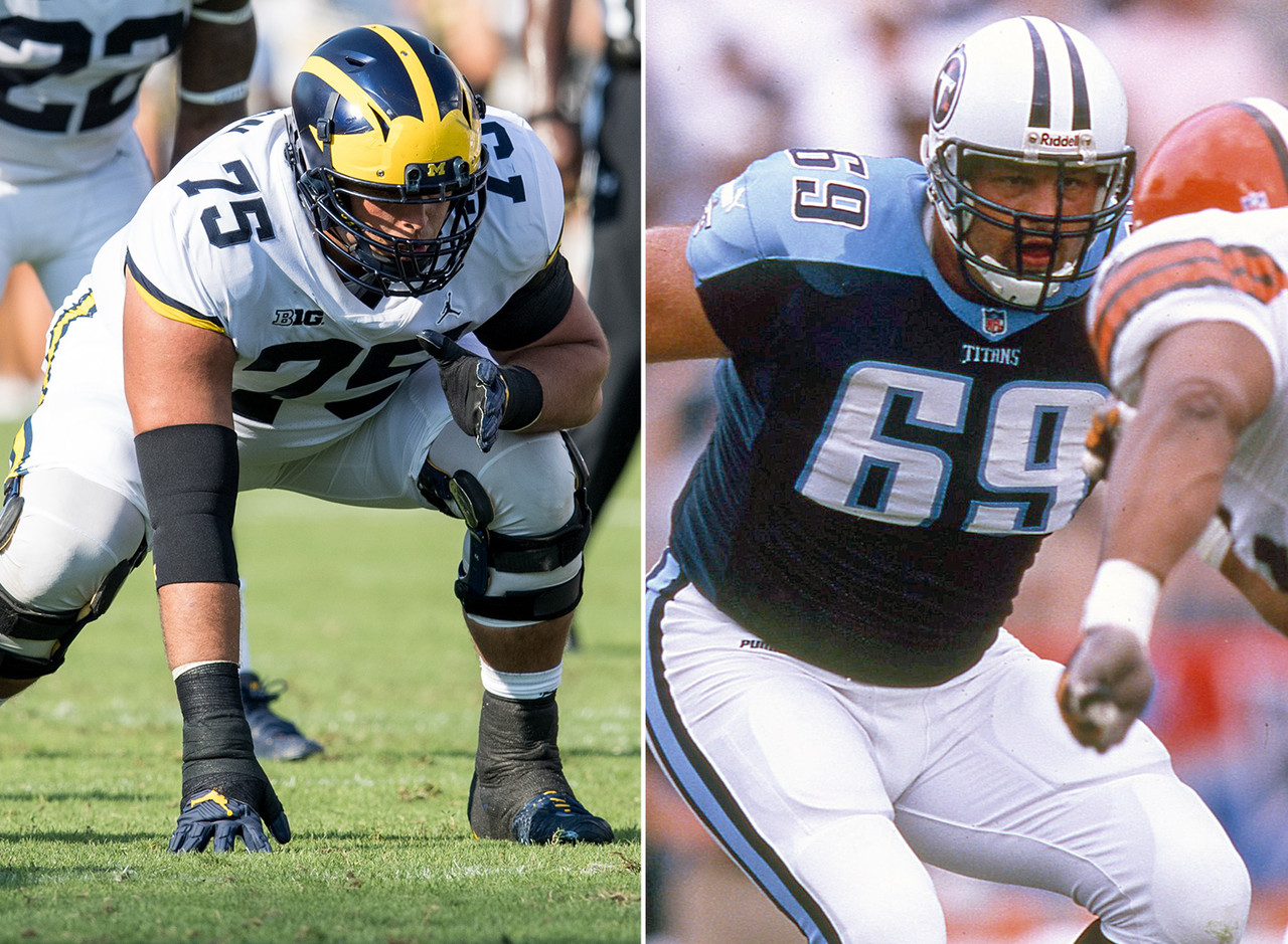 <b>His dad:</b> Jon Runyan<br><br> <b>Notable:</b> Jon Runyan was a first-team All-Big Ten pick at Michigan in 1995 and made 34 career starts for the Wolverines (24 at tackle, 10 at guard). Picked in the fourth round of the 1996 draft by the Houston Oilers, his NFL career was remarkable for his durability -- he didn't miss a regular-season start for 12 consecutive seasons with the Oilers/Titans and Philadelphia Eagles. Runyan Jr. made his first career start in the Outback Bowl against South Carolina on Jan. 1, and is expected to be the Wolverines' starter at right tackle this fall.