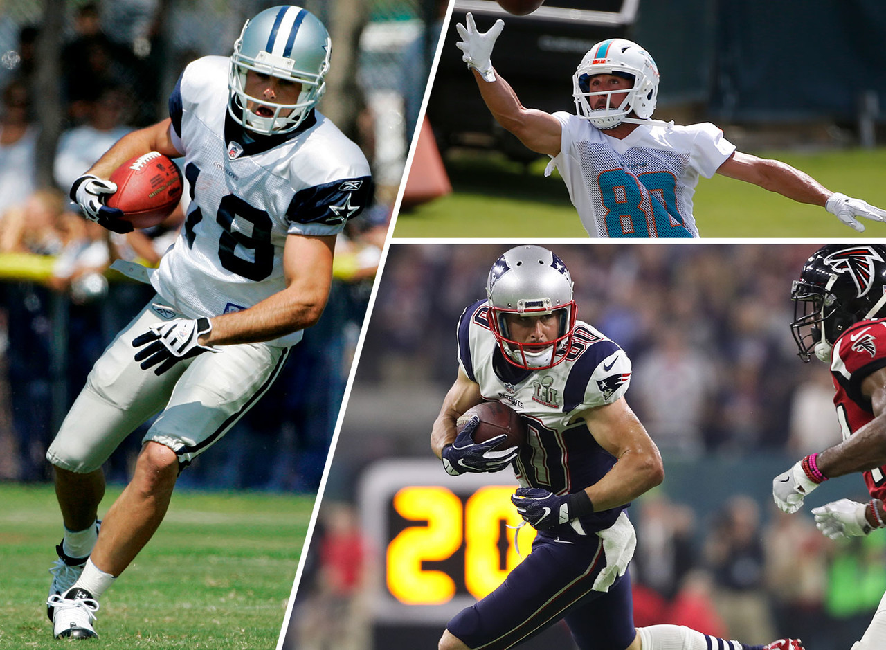 Then: An undrafted free agent in 2008 with the Cowboys, Amendola failed to make the team as a loveable underdog despite an endorsement from star receiver Terrell Owens. <br><br> Now: After stints on the Cowboys and Eagles practice squads, Amendola has played nine NFL seasons with the Rams and Patriots. After winning a pair of Super Bowl rings in New England, Amendola signed with the Dolphins in 2018.