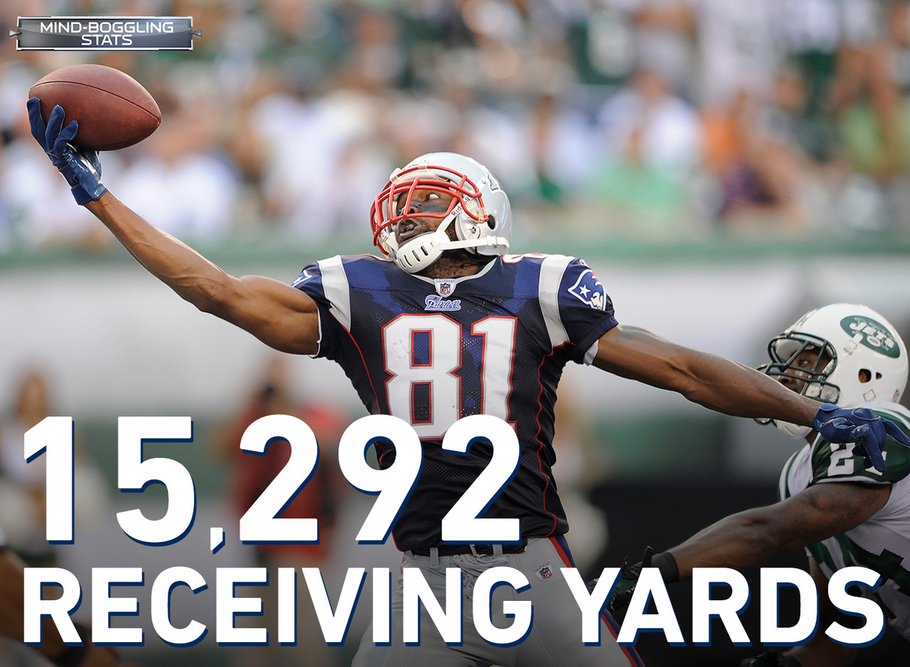 Moss is ranked fourth all-time in the NFL with 15,292 receiving yards in his career.