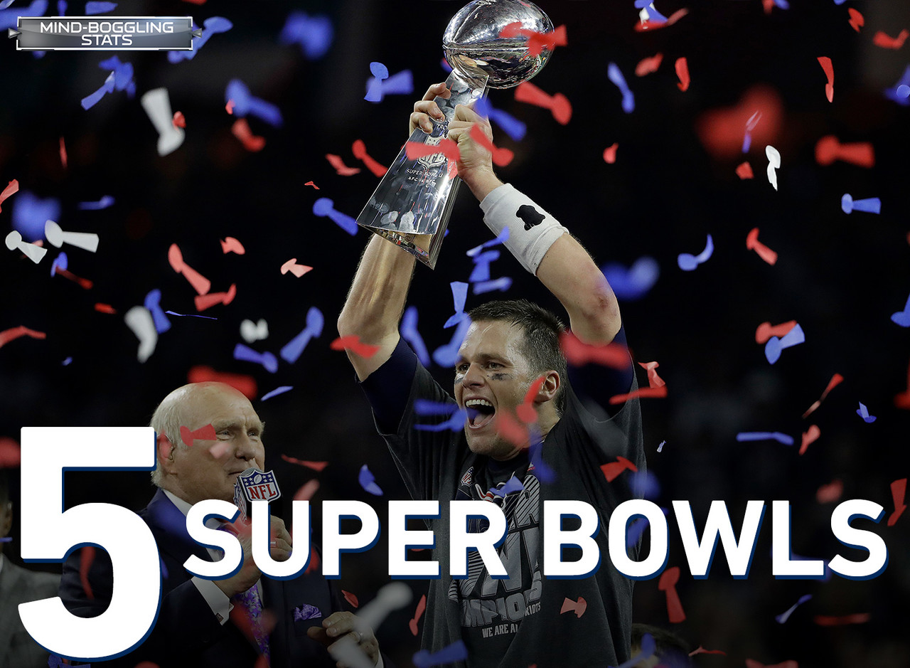 Brady holds the records for the most Super Bowl titles among NFL quarterbacks with five.