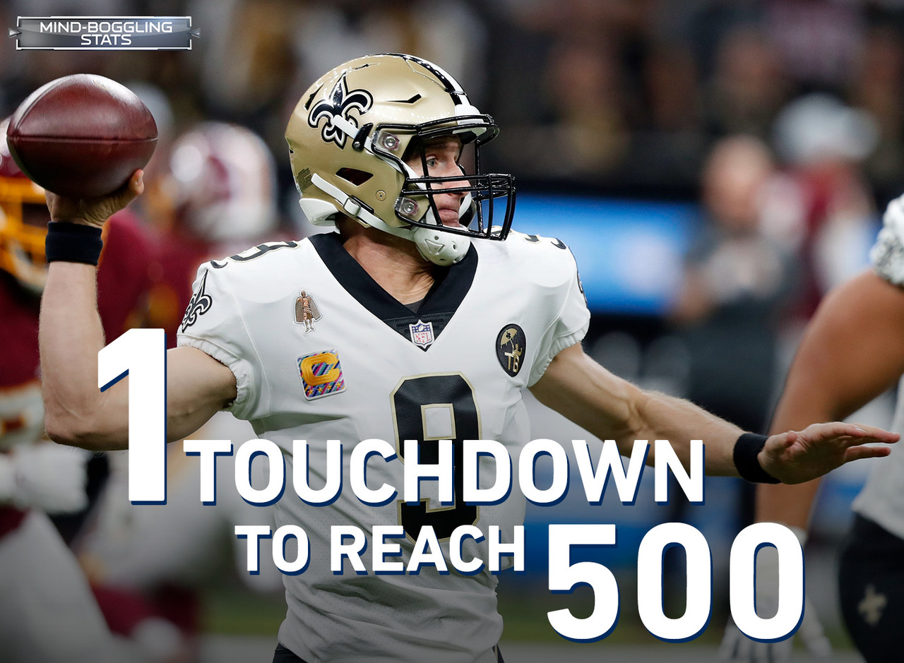 Drew Brees is one passing TD shy of 500 for his career and one win shy of defeating all 32 current NFL franchises. He can accomplish both in Week 7, but it won't be easy. Brees is 0-4 in his career against the Ravens, who boast both the No. 1 scoring defense and No. 1 total defense this season. What's more, the Ravens are the only team in the NFL that has not allowed a passing touchdown on their home field this season.