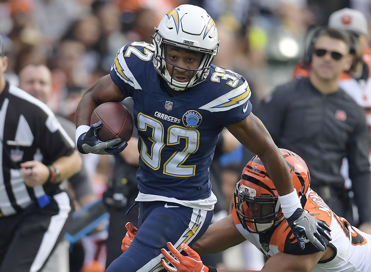 While Melvin Gordon (knee) and Austin Ekeler (stinger) are both banged up ahead of the Chargers short-week date on Thursday night against the Chiefs, Justin Jackson is another primary add along with Pettis and Wilson. Ekeler handled 17 touches in Week 14 while Jackson had nine, but Jackson could be the lead back if Gordon and/or Ekeler are absent on Thursday night. Kansas City entered last week dead-last in YPC allowed to RBs, further enhancing Jackson's Week 15 outlook.