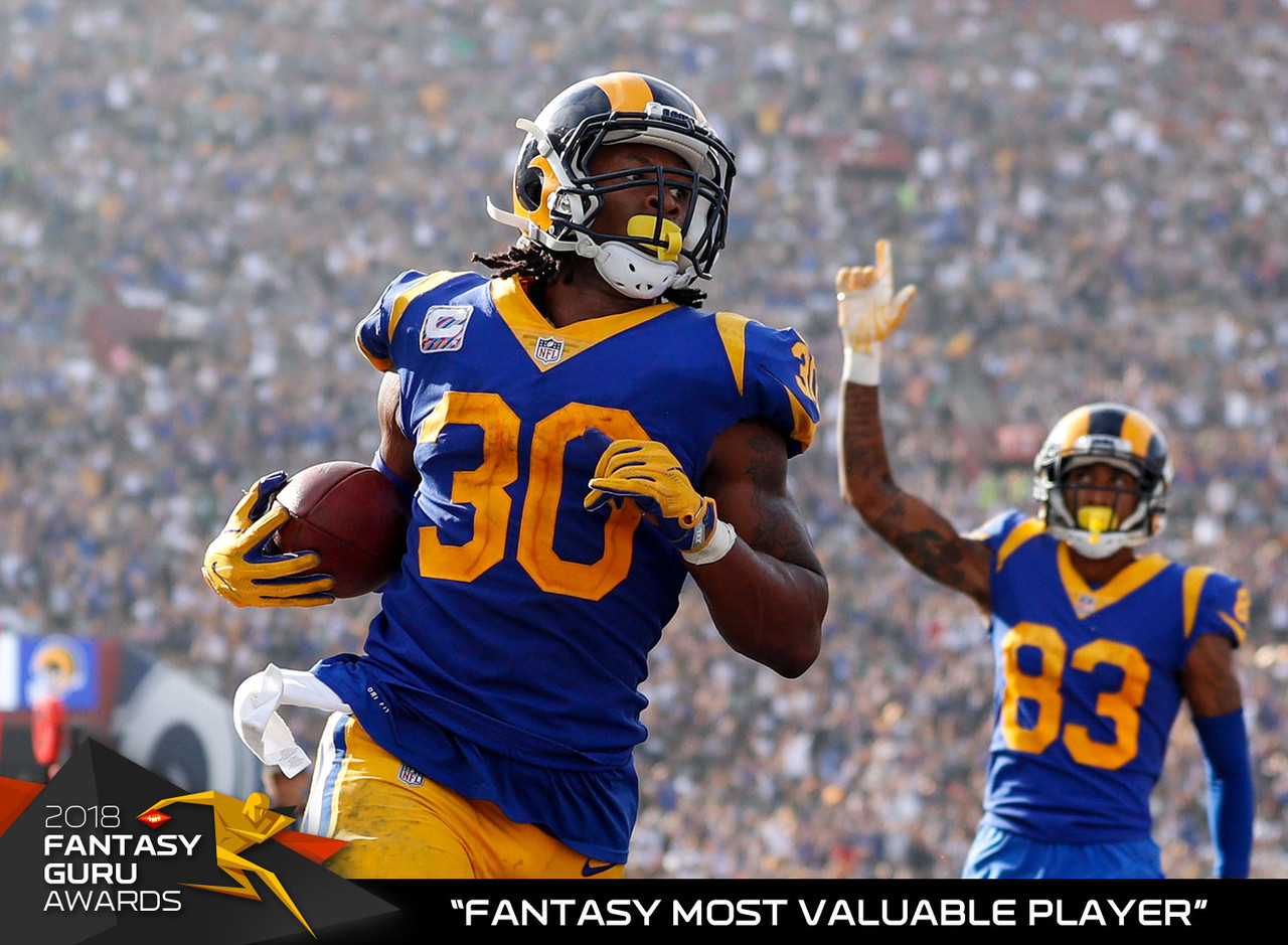 Gurley had another monster fantasy season in the stat sheets, finishing first in total touchdowns, third in rushing yards, seventh in receiving yards and third in fantasy points among running backs, and he did it while playing in 14 games. Gurley also finished with an average of 26.6 PPR points per game, which led all runners and ranked eighth all time. The Georgia product figures to be the top overall selection in most 2019 drafts.