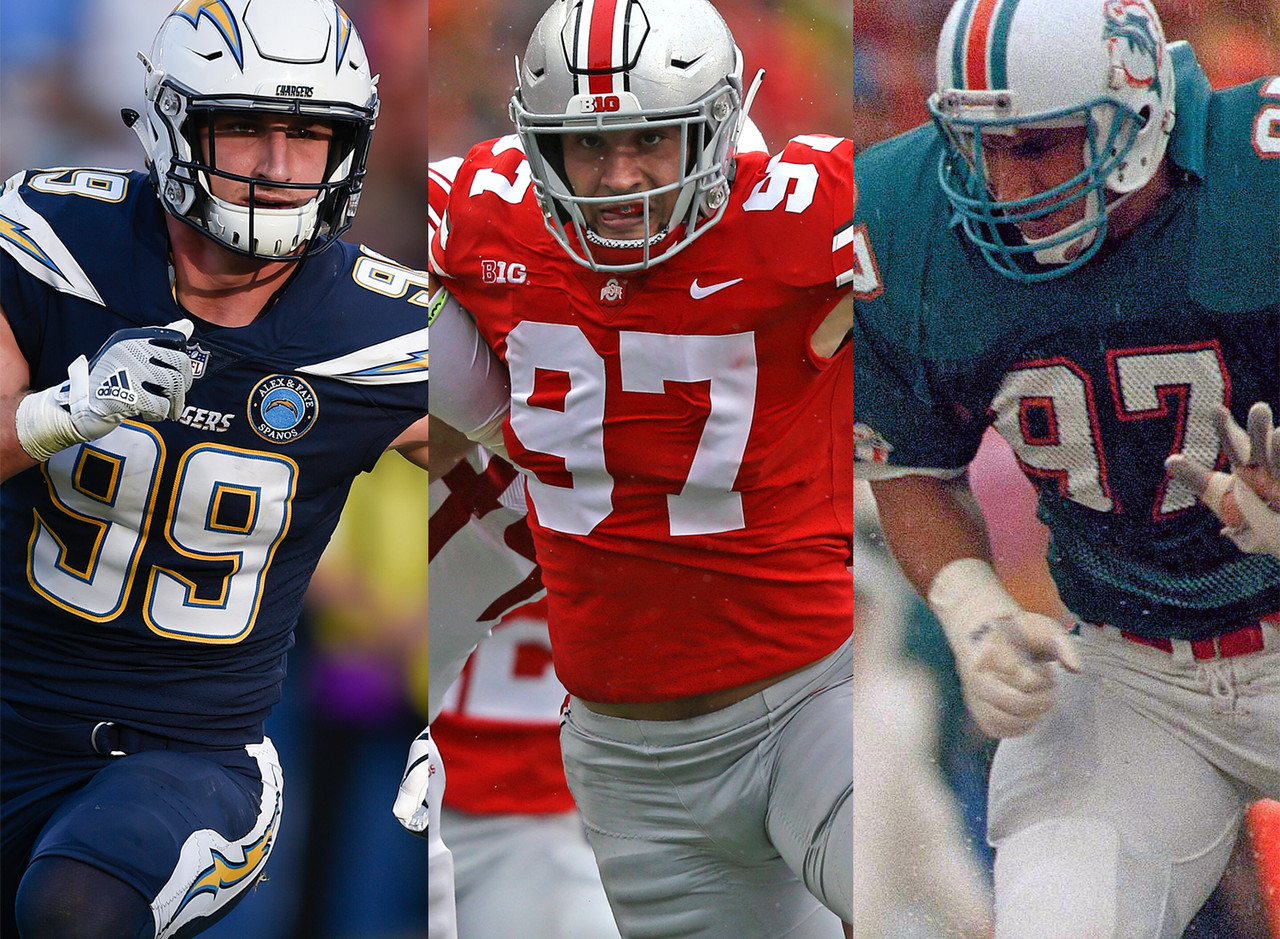 Brother, Joey Bosa, was drafted in the first round by the San Diego Chargers in 2016, and father, John, DE, played for three years with the Miami Dolphins from 1987-1989.