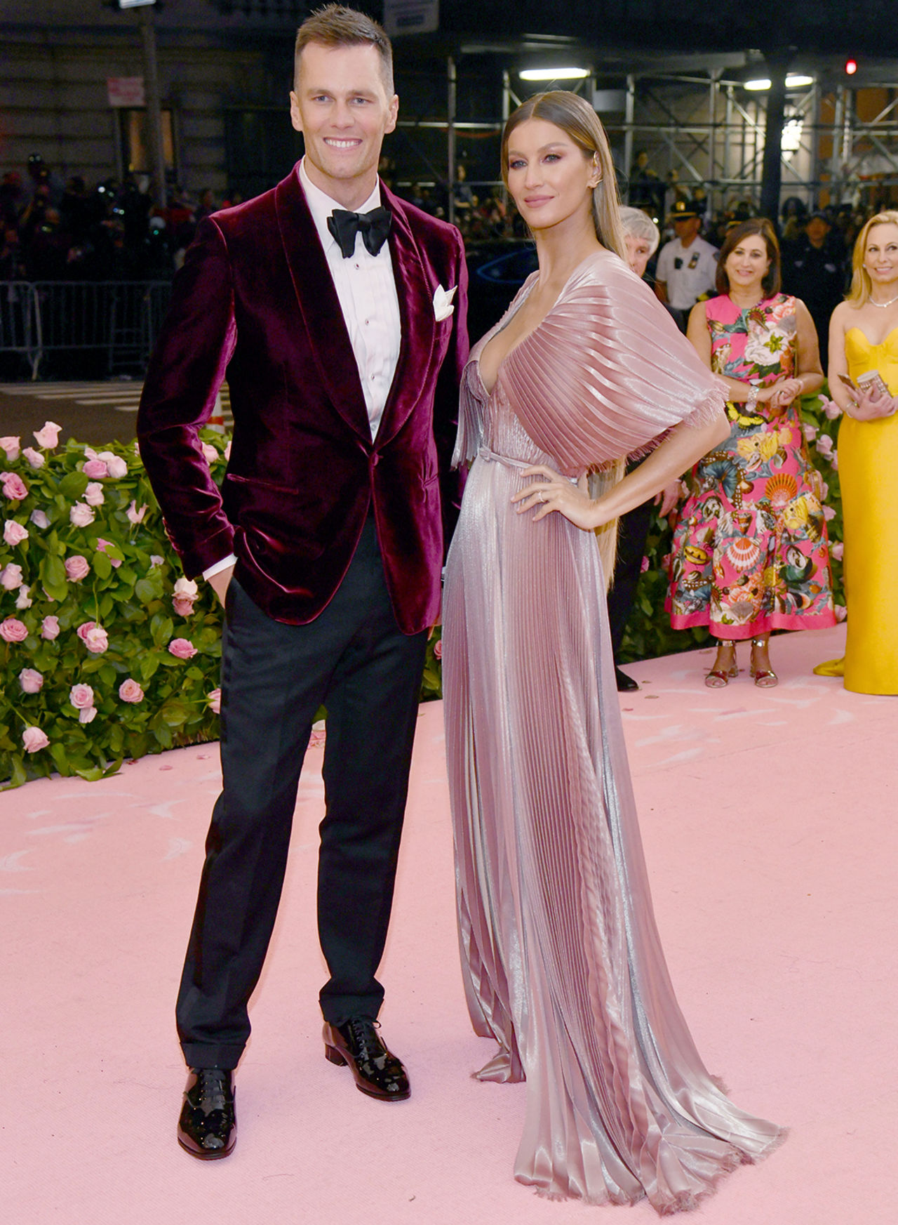 "New England Patriots quarterback Tom Brady, left, and Gisele Bundchen attend The Metropolitan Museum of Art's Costume Institute benefit gala celebrating the opening of the ""Camp: Notes on Fashion"" exhibition on Monday, May 6, 2019, in New York."