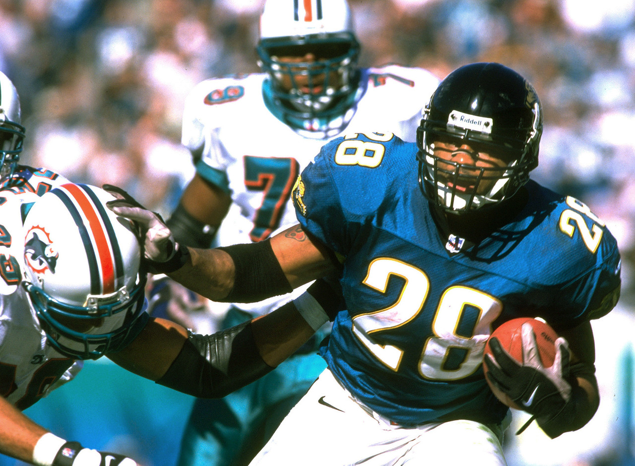 Jacksonville Jaguars 62 - 7 win over Miami Dolphins in AFC Divisional football game Jan. 15, 2000.  55 point difference.