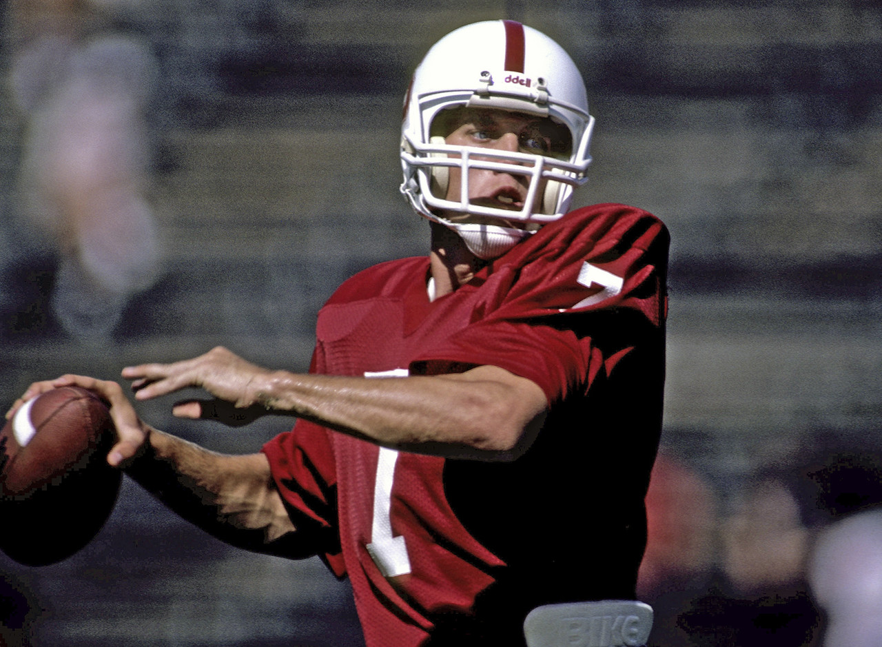 Quarterback John Elway of Stanford was drafted by the Baltimore Colts in the 1st round (1st overall) of the 1983 NFL Draft.