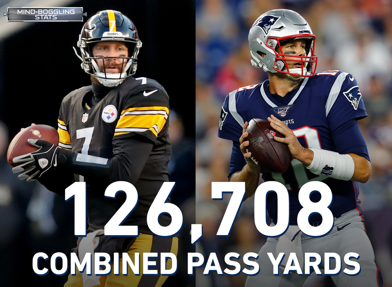 Ben Roethlisberger and Tom Brady will bring no shortage of accomplishments into their Week 1 matchup. The future Hall of Famers have combined to throw for 126,708 yards in their careers, or just shy of 72 miles. The two opposing quarterbacks have also combined for the most games played (485) and QB wins (351) among opposing QBs entering a game in NFL history.