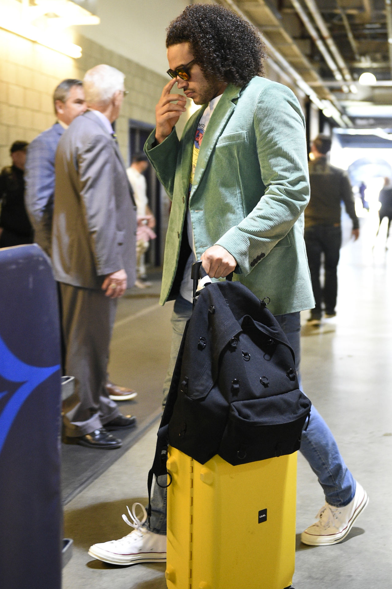 Minnesota Vikings middle linebacker Eric Kendricks arrives before an NFL football game against the Los Angeles Chargers Sunday, Dec. 15, 2019, in Carson, Calif.