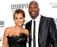 Miami Dolphins WR Chad Ochocinco (right) and reality TV star Evelyn Lozada were married July 4.