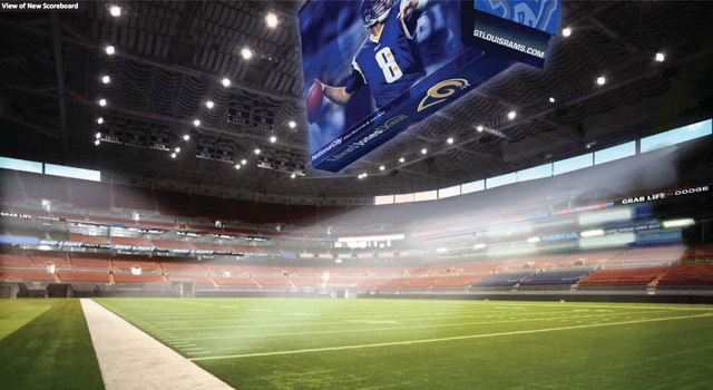 rams receive amended stadium proposal from st louis cvc