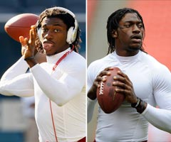 Robert Griffin III no longer is sporting his pregame headphones.