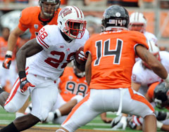 Wisconsin running back Montee Ball could only muster 61 rushing yards in a loss to Oregon State.