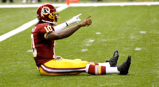 Robert Griffin III and the Redskins beat the Saints 40-32 on Sunday.
