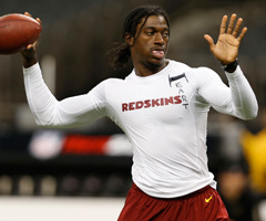 Robert Griffin III's attire Sunday caught the NFL's attention.