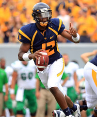 Geno Smith and the Mountaineers will get a decent test Saturday against Maryland.