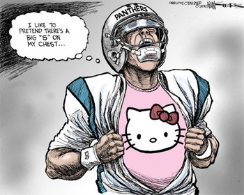 The Charlotte Observer pokes fun at Carolina Panthers QB Cam Newton. (Kevin Siers/The Charlotte Observer)