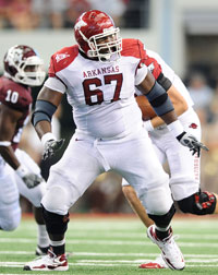 Arkansas' Alvin Bailey has had a disappointing 2012 season thus far.