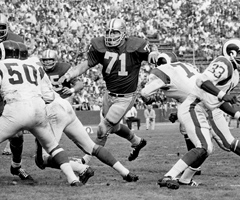 Alex Karras' professional achievements have extended beyond his exploits with the Detroit Lions, as he became an actor famous for his roles in