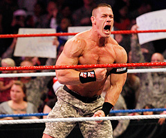 WWE wrestler John Cena will be the New York Jets' honorary team captain for Sunday's game against the Indianapolis Colts. (Jim R. Bounds/Associated Press)