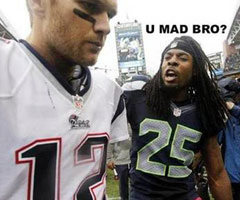 This photo featuring Seattle Seahawks CB Richard Sherman and New England Patriots QB Tom Brady was posted on Sherman's Twitter account Sunday.