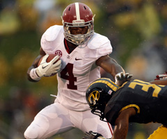 Running back T.J. Yeldon is averaging 6.4 yards per carry as a true freshman at Alabama.
