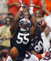 Auburn DE Corey Lemonier is one of the most disruptive defensive players in the SEC in 2012.