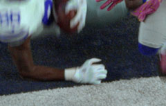 Dez Bryant's hand barely touched the end zone line on what would have been a game-winning TD catch for the Dallas Cowboys.