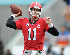 Although Georgia knocked off previously unbeaten Florida, Bulldogs QB Aaron Murray did not perform well.