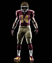 The Washington Redskins updated a classic look from 1937.