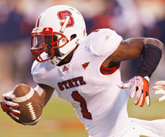 N.C. State corner David Amerson has four interceptions this season for the Wolfpack.