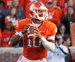 Tajh Boyd has thrown 18 touchdown passes in Clemson's past four games.