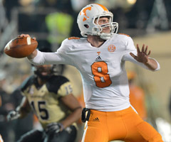 Quarterback Tyler Bray and the 4-7 Tennessee Volunteers have disappointed in 2012.