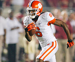 Wide receiver DeAndre Hopkins has scored at least one touchdown in 10 of Clemson's 11 games this season.