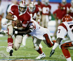 Roger Craig rushed for more than 1,000 yards just three times in his career -- in 1985, 1988 and 1989.