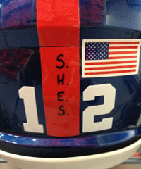 The New York Giants will wear a decal Sunday in memory of those killed in the mass shooting at Sandy Hook Elementary School in Newtown, Conn. (New York Giants/Twitter)