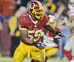 London Fletcher is a Cleveland native who played in his hometown Sunday for the first time in his 15-year NFL career.